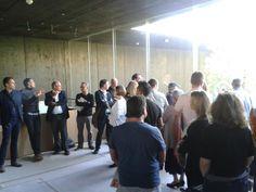Internationale Kunden von #zumtobel mit architekt loenhart in lounge des ö Expo-Pavillon @wko_aw @expoaustria