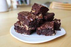 Gluten-free tahini halvah brownies
