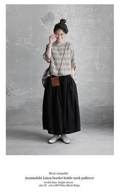 Japan Fashion, Look Fashion, Korean Fashion, Womens Fashion, Fashion Design, Modest Fashion, Women's Fashion Dresses, Natural Clothing, Model Outfits