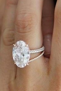 diamonds and pearls; thin band; accent diamond #engagement #ring