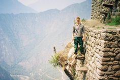 hold your breath... floating Inca stairs at Hyuana Picchu, Peru