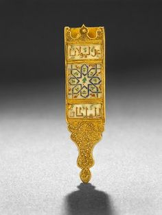 Enamelled Gold Belt Buckle Unknown, Spain, 14th Century 1300/1400, The Museum of Islamic Art, Qatar