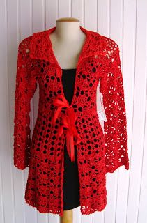 Red crocheted cover - Working on a motif right now in Red #3 yarn that i need ideas on how to lay the pieces. Maybe something long like this?