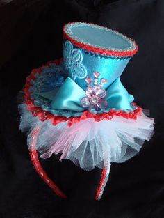 Mad Hatter hats on head bands love this idea