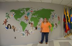 We've shared with you many celebrations of our 75th anniversary from across the world, but today we'd like to unveil our way of celebrating at headquarters. Pam Brown, an executive assistant in our IT department, painted a mural of the world, which other staff members populated by decorating Watotos to add. Read more about the meaning behind the mural in today's blog post.