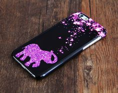 Pink Stars Glitter Elephant Women iPhone 6 Case/Plus/5S/5C/5 Teen Case