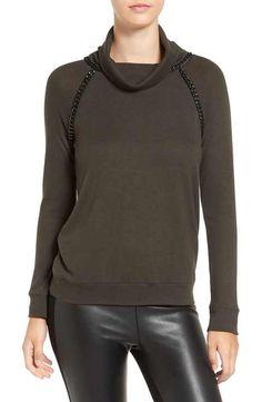 Bailey 44 Chain Detail Turtleneck Sweater
