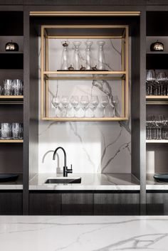 Luxury Hotel in Perth Pays Homage to Area's Landscapes and Local Artists Küchen Design, Layout Design, House Design, Interior Design, Home Wet Bar, Bars For Home, Bar Sala, Home Bar Rooms, Modern Home Bar