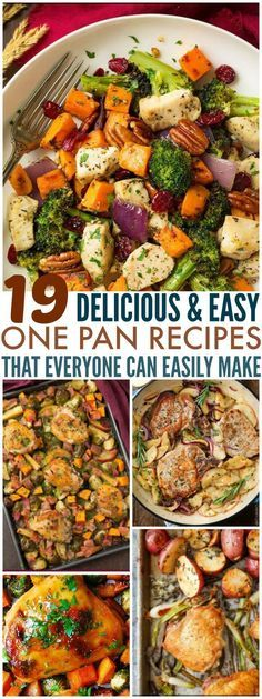 These 19 One Pan Recipes Are Great For Huge Families And Those Who Want To Meal Prep For The Whole Week. Even better, they're Fall themed! Can it get any better?