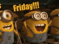 minions its friday animated GIF Amor Minions, Minion Gif, Cute Minions, Minions Quotes, Gif Feliz Viernes, Minion Birthday Wishes, Happy Friday Gif, It's Friday Gif, Minion Friday