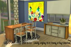 Sims 4 CC's - The Best: S3 to S4 - Simply Styling IKEA Dining + Rug Collec...