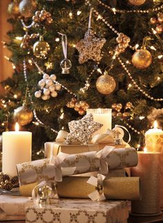 Laura Ashley Christmas: Wrap your beautifully wrapped presents become part of your decor...