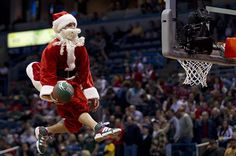 In 91, a Cavs buzzer beater led Joe Tait 2 claim Santa was from where? From #1 #NBA Quiz App www.nbabasketballquizgame.com