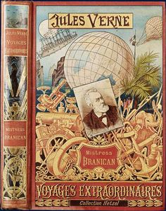 """Volumes en cartonnages d'éditeur Hetzel Décor """"au dos à l'ancre"""", 1894"""
