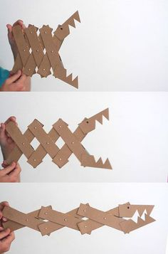Cardboard monster kids crafts - the creation of tools.