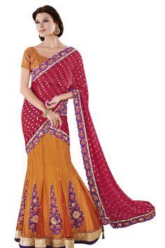 Best Sarees Online Shopping With Price Sarees Online India, Lehenga Collection, Orange Fabric, Lehenga Saree, Latest Sarees, Online Shopping Stores, Lahenga, Colour Red, Designer Sarees