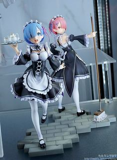OMG RAM AND REM ANIME FIGURES!!!