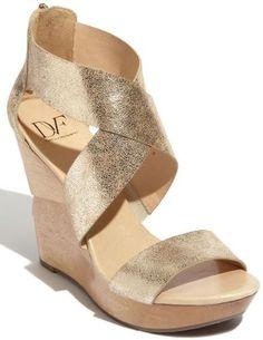 4ce47b53a15 Diane von Furstenberg  Opal  Wedge Sandal Bridal Wedges