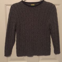❤️sweater/ boys Boys sweater by spotted Frog. Gray with black trim around neck. Boys size (7) xl. Spotted Frog runs big. No rips no stains. Wore one time! Great condition  Spotted Frog Sweaters Crew & Scoop Necks