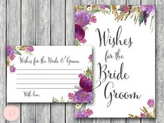 Purple Wishes for the Bride and Groom Wishes for by BrideandBows