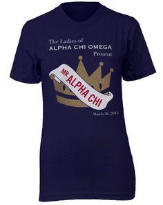 Alpha Chi Omega Mr. Alpha Chi T-shirt - Adam Block Design