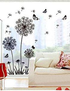 murali Stickers adesivi murali, adesivi murali tarassaco pvc