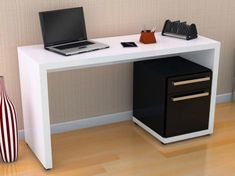 Mesa para Notebook/Escrivaninha 1 Porta 1 Gaveta Kappesberg - Mesas Computador/Escrivaninhas - Magazine Luiza