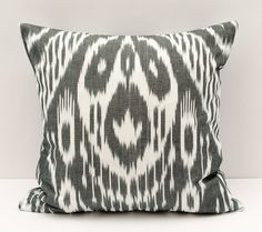 15x15 ikat cushion cover cotton ikat pillow cover by SilkWay