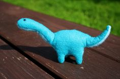 Teal & Turquoise Felt Plush Dinosaur Toy by aneniine on Etsy, €8.50/