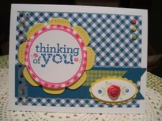 A July stamp camp card using lots of new goodies including the Stamp Set Kind and Cozy and the new clay.  Love it!