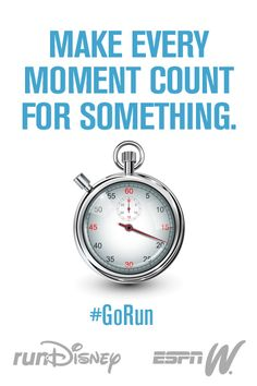 Make every moment count for something greater than the one before it! #GoRun