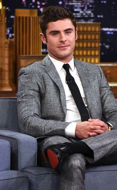 Zac Efron from The Big Picture: Today's Hot Pics  Actor was at The Tonight Show Starring Jimmy Fallon to promote his film We Are Your Friends.