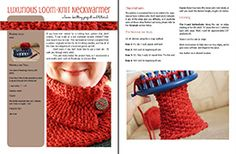 Luxurious Loom-Knit Neckwarmer, step-by-step tutorial, @robenne gutierrez Gutierrez Dot Cottage