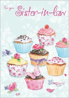 Cupcakes Illustration Paper Ideas For 2019 Cupcake Kunst, Cupcake Art, Cupcake Illustration, Birthday Greetings, Birthday Wishes, Birthday Cards, Decoupage Vintage, Decoupage Paper, Cupcake Pictures