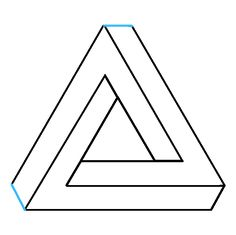 Learn to draw the impossible triangle. This step-by-step tutorial makes it easy. Kids and beginners alike can now draw a great looking optical illusion. Optical Illusions Drawings, Illusion Drawings, Illusion Art, Geometric Lion Tattoo, Geometric Drawing, Triangle Optical Illusion, Triangle Drawing, Letras Abcd, Impossible Triangle