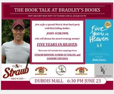 YOU'RE INVITED! One week from tonight on Thursday, June 23... Join me, Straub Brewery, The Winery at Wilcox, Gourmet Kitchen, and Bradley's Book Outlet for a night of FUN, INSPIRATION, and LOTS of delicious (and free!!!) beer, wine, and food samples! +++++ #FiveYearsInHeaven #book #memoir #inspire #beer #wine #food #StraubBeer #WineryAtWilcox #GourmetKitchen #eat #drink #bemerry #party #fun