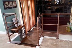 20 Beautiful Railings Built with Pipe #diy #railing #handrail