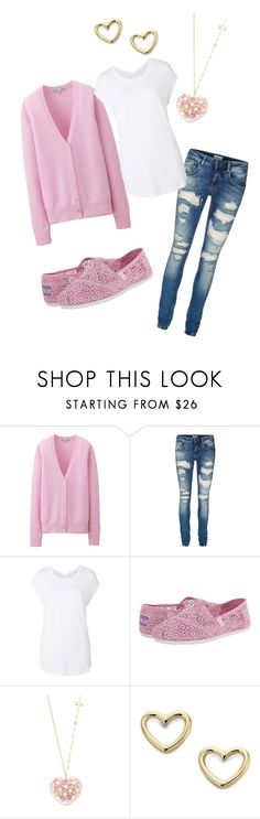 """Pink Sweater Prep"" by kristie-hall-reagan ❤ liked on Polyvore featuring Uniqlo, Vero Moda, Witchery, BOBS from Skechers, Betsey Johnson and Marc by Marc Jacobs"