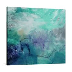 Inspirit your space with the ethereal tones and watery strokes of the Crystal Water Painted Canvas Wall Art from United Interiors. Ethereal, Decorative Accessories, Canvas Wall Art, Original Art, Tapestry, The Unit, Hand Painted, Colours, Crystals