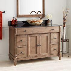 48 Neeson Vanity for Rectangular Undermount Sink - Rustic Brown - Bathroom Vanities - Bathroom Wood Vanity, Vanity Cabinet, Vanity Sink, Bathroom Vanities, Vanity Drawers, Furniture Vanity, Furniture Storage, Bathroom Furniture, Antique Furniture