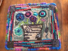 Colourful Basket is done - maybe make it into a pillow??
