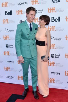 """Eddie Redmayne and Felicity Jones at """"The Theory of Everything"""" premiere - TIFF Fashion"""
