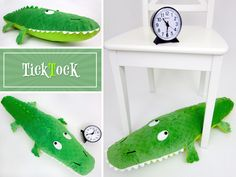 ~ Cute...Huge Handmade Stuffed Toy ~ Crocodile Pillow - Pattern & Tutorial by Liz Johnson - Sew4Home