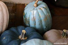 Fall decor - Chalk paint pumpkins