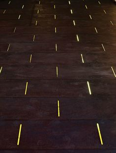 This Is A Corten Steel Path With Fine Laser Cut Strips With LED Lighting  Beneath. Landscape ...