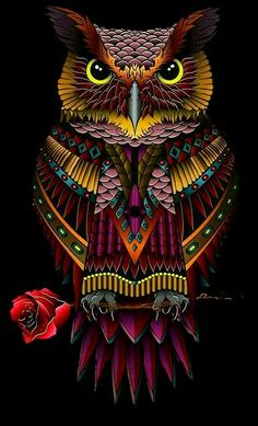 Cool Pictures For Wallpaper, Colorful Wallpaper, Steampunk Animals, Owl Artwork, Black Aesthetic Wallpaper, Sanskrit Tattoo, Owl Tattoo Design, Maneki Neko, African American Art