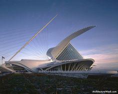 Santiago Calatrava - Milwaukee Art Muesum, at Milwaukee, Wisconsin  ArchitectureWeek