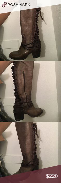 Stave madden free bird boots Stave madden free bird leather tall boots Steve Madden Shoes Lace Up Boots