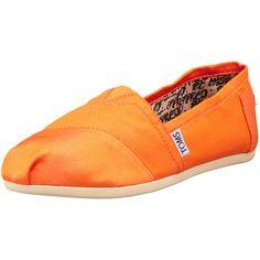 TOMS Grosgrain Slip-On, Orange ($35) ❤ liked on Polyvore