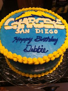 chargers birthday cakes | Pin it 1 Like 1 Image